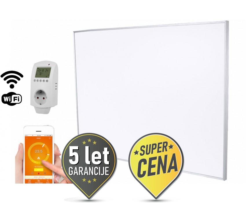 900W IR panel z WIFI termostatom za stensko montažo