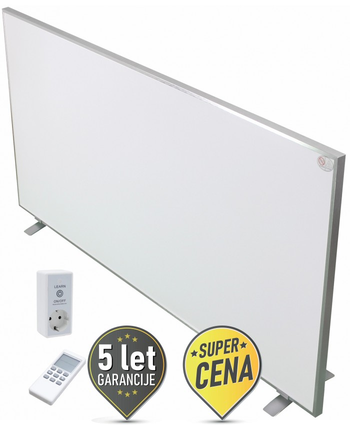 900W IR panel z brezžičnim termostatom prenosni