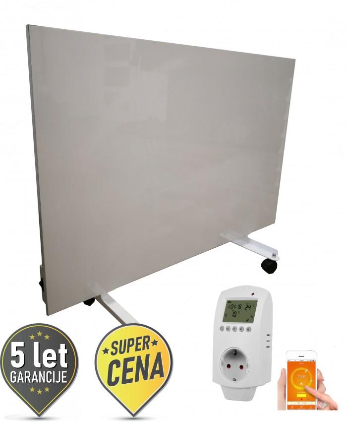 600W prenosni keramični IR panel z WiFi termostatom